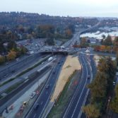 Aerial photo: SR-520 Montlake to Lake Washington project 4