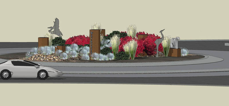 Washougal Roundabout Landscape - Project Photo 1