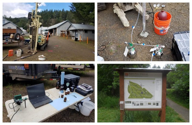 Project photo collage: OSU Peavy Geo-Environmental Services
