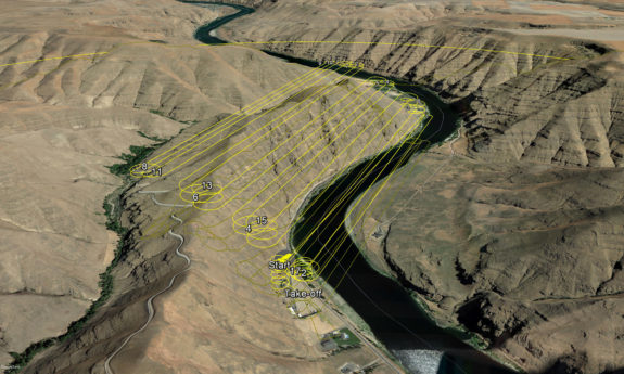 PBS UAS Drone Surveying - Flight Path